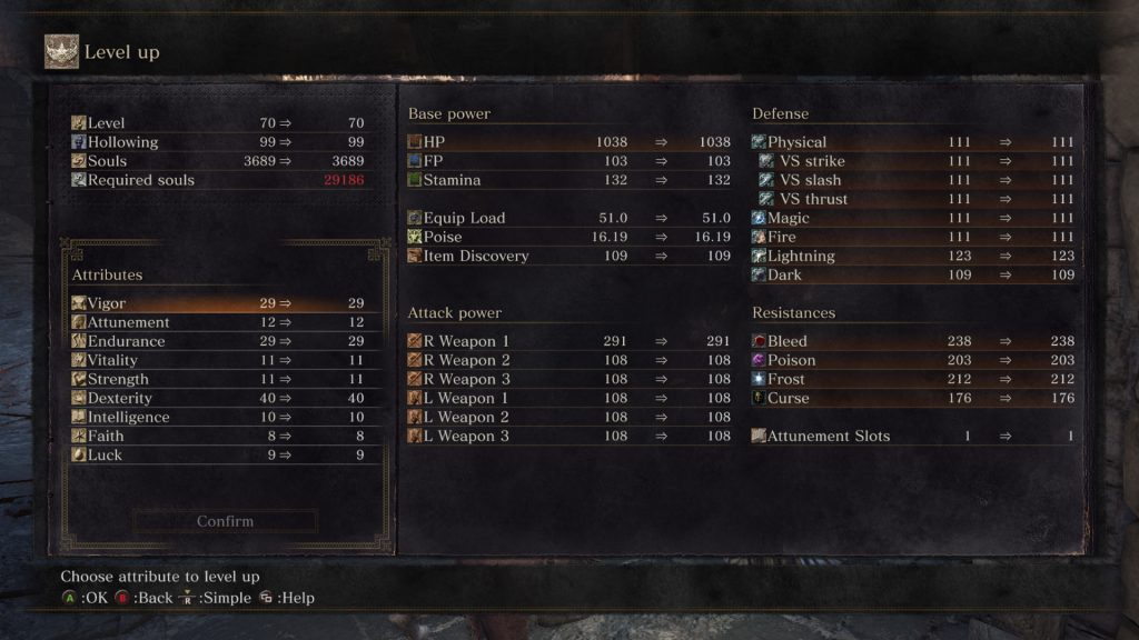 dark souls 3 level up menu